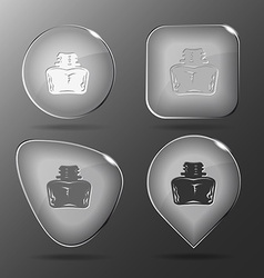 Inkstand glass buttons vector