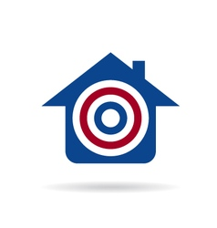 House with target logo vector