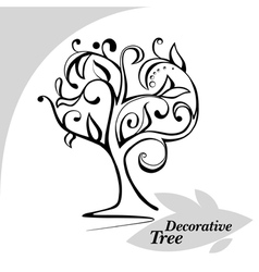 Abstract decorative tree vector