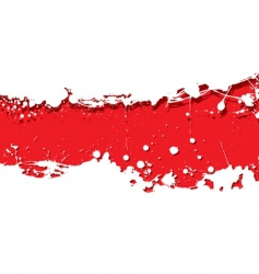 Grunge strip background red splat vector