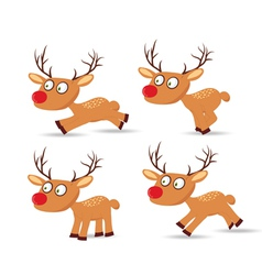 Set of christmas with deers for design vector