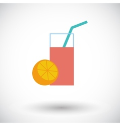 Fruit juice icon vector