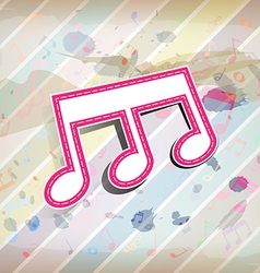 Melody note label with pastel background vector