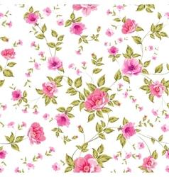 Elegant seamless peony pattern vector
