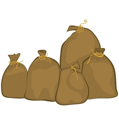 Group of sacks vector