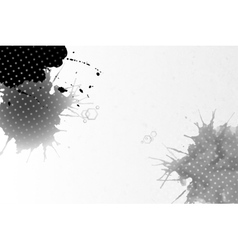 Abstract hand drawn watercolor gray-black vector