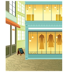 Fashion boutique streetview vector