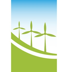 Wind power background vector