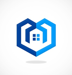 Home construction concept abstract logo vector