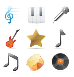 Icons for music vector