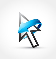 Mouse cursor with arrow vector