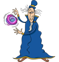 Evil sorcerer cartoon vector