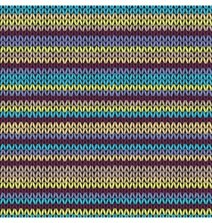 Knit seamless multicolor striped pattern vector