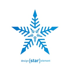 Original snowflake on white background vector