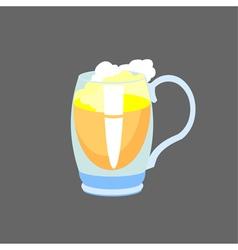 Beer in glass mug vector