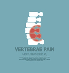 Vertebrae pain illness concept vector