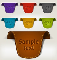 Set of leather tag labels vector