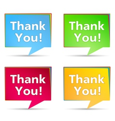 Speech bubbles with thank you words vector