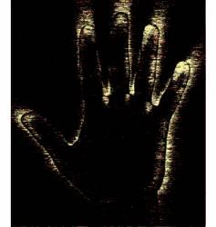Grunge hand vector