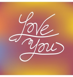 Love you greeting card concept vector