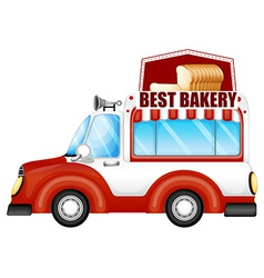 A vehicle selling breads vector