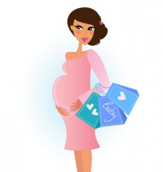 Fashionable pregnant woman vector
