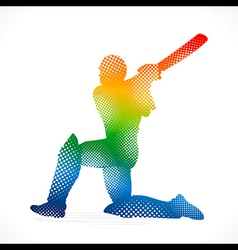 Cricket design by halftone concept vector