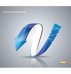 Blue arrow symbol vector