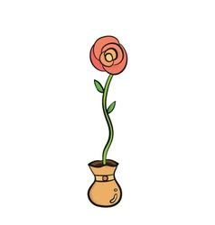 Rose in jar vector