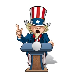 Uncle sam presidential podium grave vector