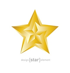 Golden star with arrows on white background vector