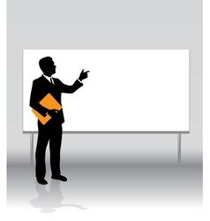 Businessman board vector