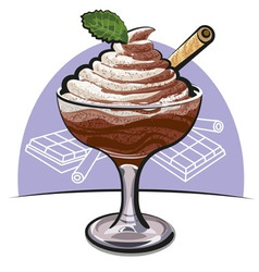 Chocolate mousse vector