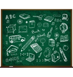 Set of school doodle s vector