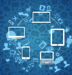 Wireless information fransfer scheme vector