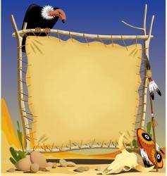 Animal skin banner in desert vector