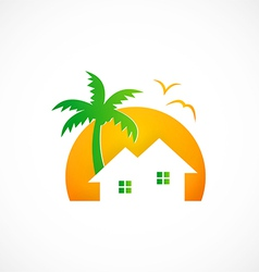 Home cottage nature abstract logo vector