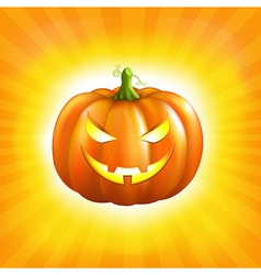 Sunburst halloween background vector