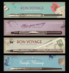 Retro travel or writing banner vector