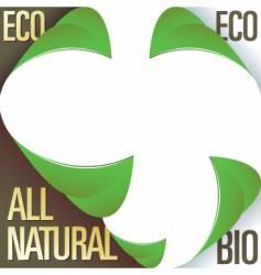 Eco bio and natural labels vector