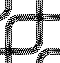 Seamless wallpaper tire tracks pattern background vector