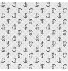 Seamless patterns gray anchors vector