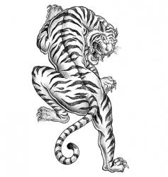 Shaded asian tiger vector