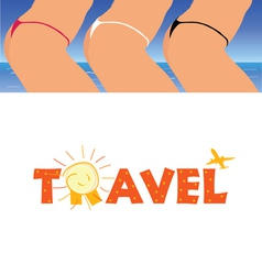 Sign of travel with woman ass vector