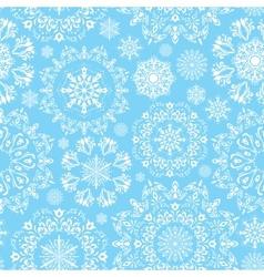 Seamless snow pattern vector