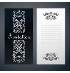 Paper decor invitation vector