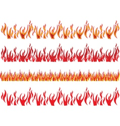 Set red fire to flames vector