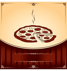Hot pizza graphic with place for text vector