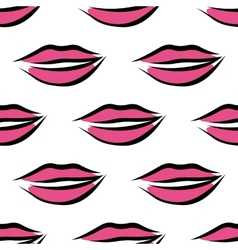 Sexy parted female lips seamless pattern vector