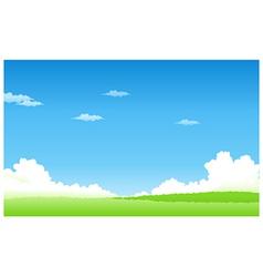 Green landscape blue sky vector